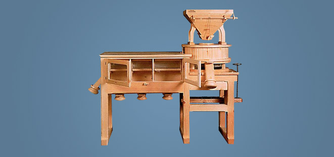 Stone Mills With In Solid Pine Wood Osttiroler A1000
